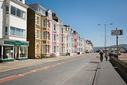 Houses on Aberdovey / Aberdyfi seafront Gwynedd Mid Towns and Villages
